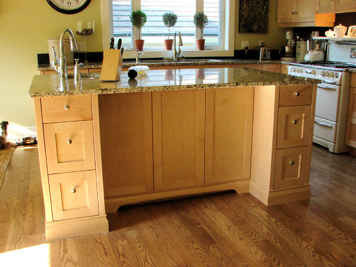 granite top kitchen island with drawers