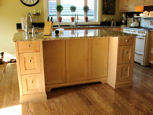 granite top kitchen island with drawers thumbnail