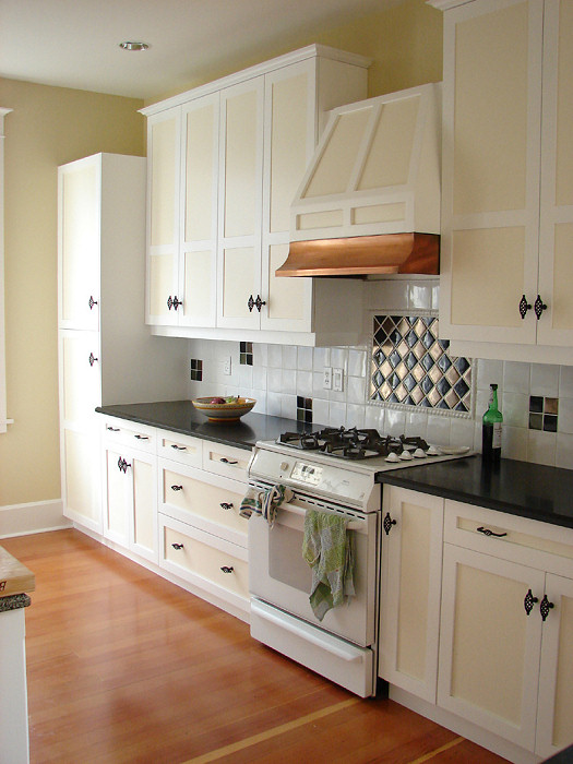 retro kitchen cabinets with gas stove
